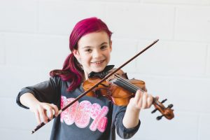 violin student from picture day
