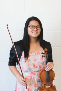 Violin student on picture day